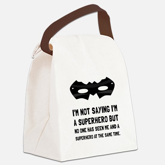 Me And Superhero Canvas Lunch Bag
