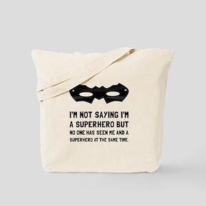 Me And Superhero Tote Bag