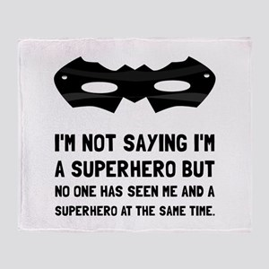 Me And Superhero Throw Blanket