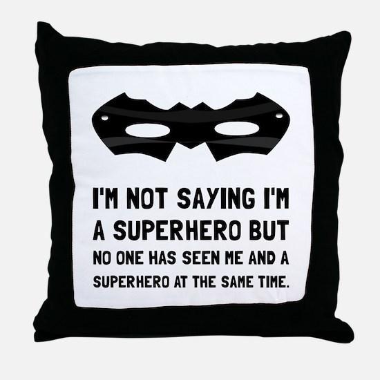 Me And Superhero Throw Pillow