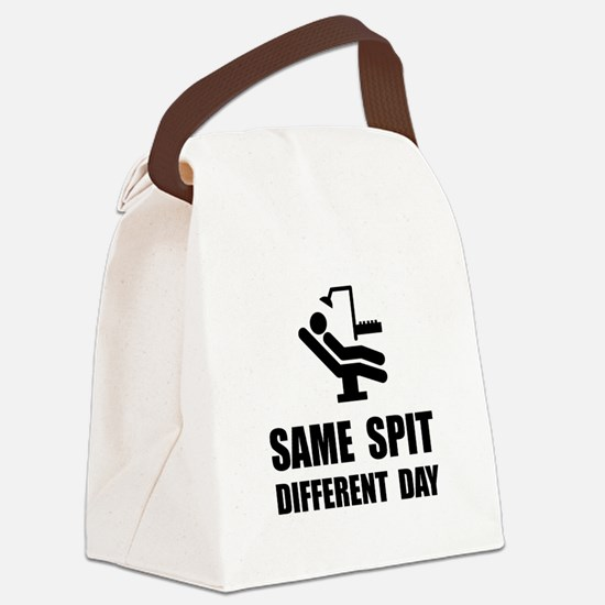 Same Spit Different Day Canvas Lunch Bag