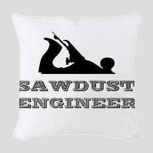 Sawdust Engineer Woven Throw Pillow