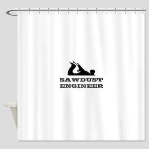 Sawdust Engineer Shower Curtain
