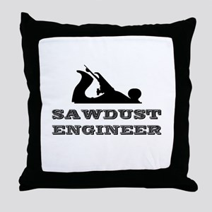 Sawdust Engineer Throw Pillow