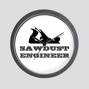 Sawdust Engineer Wall Clock