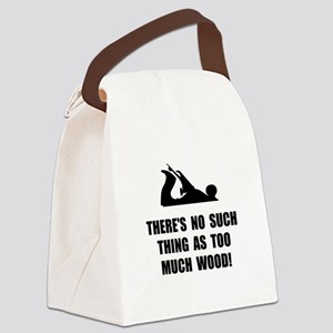 Too Much Wood Canvas Lunch Bag