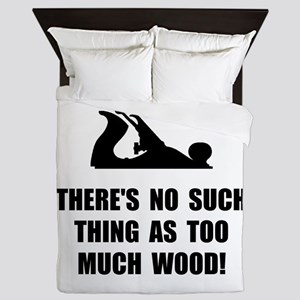 Too Much Wood Queen Duvet