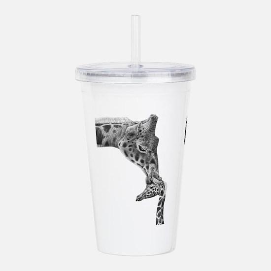 Giraffe And Calf Acrylic Double-Wall Tumbler