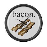 bacon. Large Wall Clock