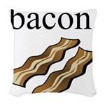 bacon. Woven Throw Pillow