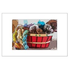Art Yarn Basket Posters
