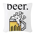 beer. Woven Throw Pillow