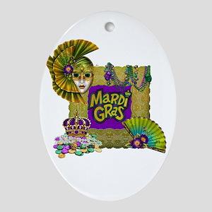 Mardi Gras Ornament (Oval)