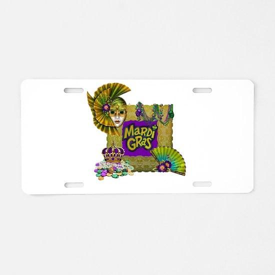 Mardi Gras Aluminum License Plate