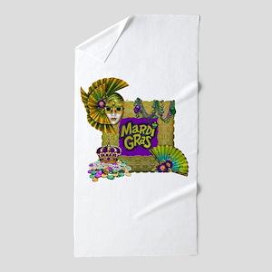 Mardi Gras Beach Towel