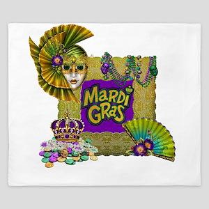 Mardi Gras King Duvet
