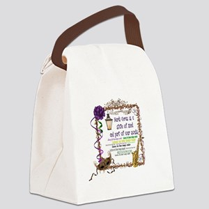 Mardi Gras Canvas Lunch Bag
