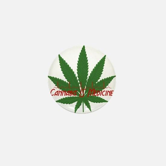 Cannabis IS Medicine Mini Button