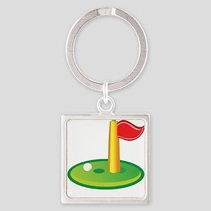 Golf Green Flag Golfing Keychains