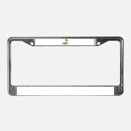 Golf Green Flag Golfing License Plate Frame
