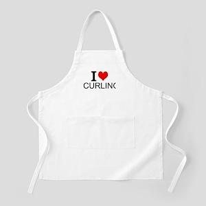 I Love Curling Apron
