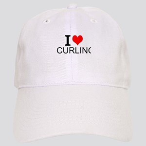 I Love Curling Baseball Cap