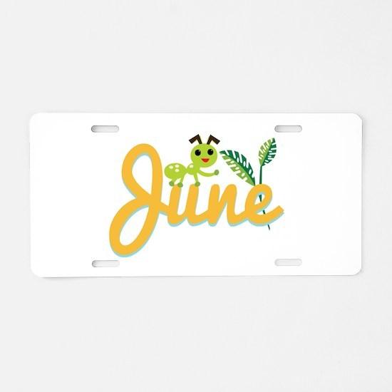 June Ant Aluminum License Plate