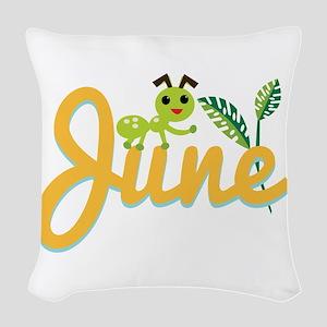 June Ant Woven Throw Pillow