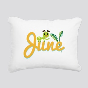 June Ant Rectangular Canvas Pillow