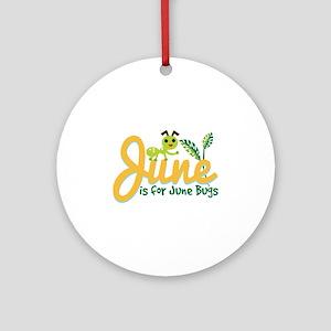 June Bug Ornament (Round)