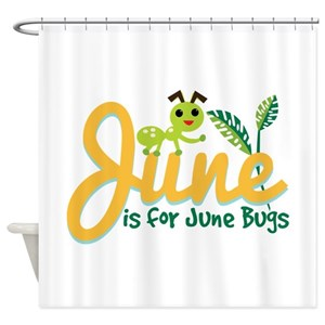 June Bug Shower Curtains
