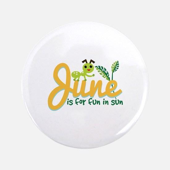 """June Sun 3.5"""" Button (100 pack)"""