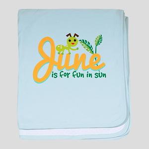 June Sun baby blanket