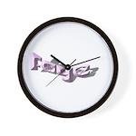 FAYE NAME Wall Clock