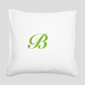 B Square Canvas Pillow