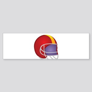 Football Gear Helmet Bumper Sticker
