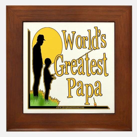 World's Greatest Papa Framed Tile