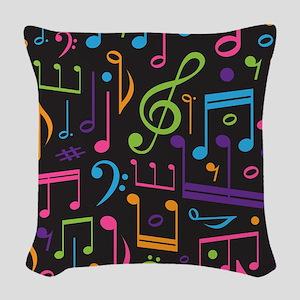 Music notes Band Choir Woven Throw Pillow