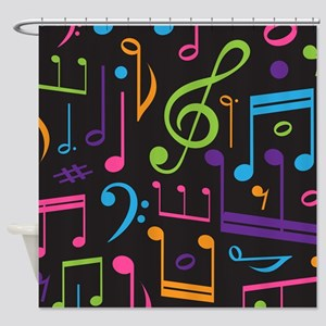 Music notes Band Choir Shower Curtain