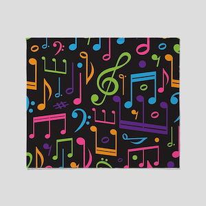 Music notes Band Choir Throw Blanket