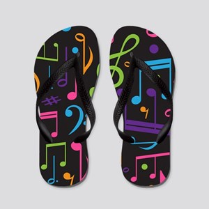 Music notes Band Choir Flip Flops