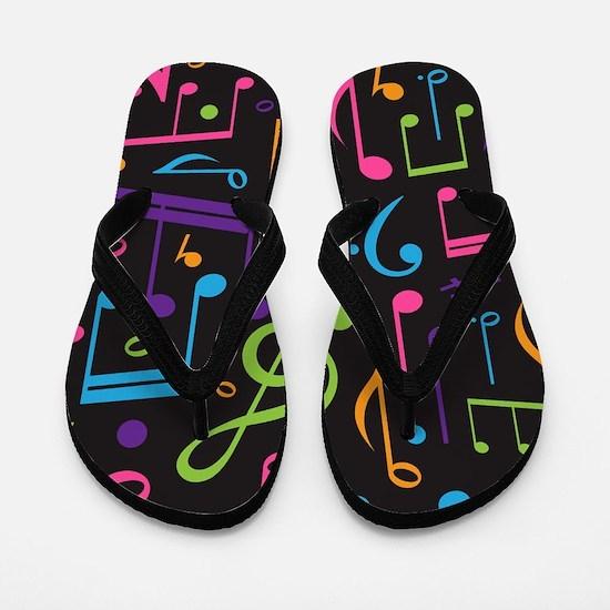 Music notes Band Choir Flip Flops