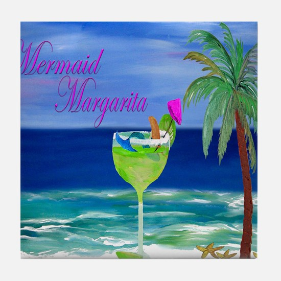 Mermaid Margarita Art Tile Coaster