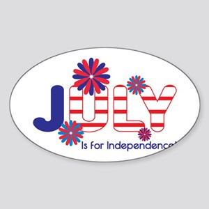 July Independence Sticker