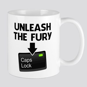 Unleash the Fury Caps Lock Mugs