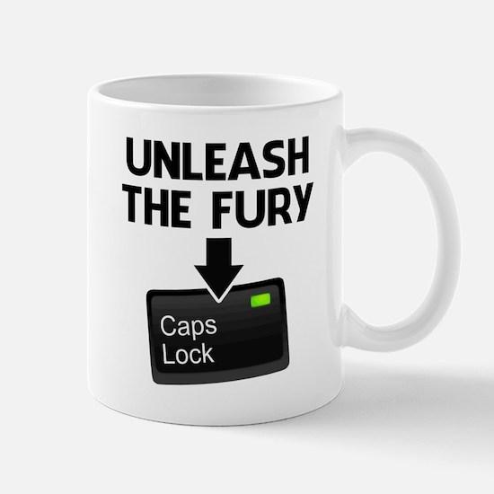 Unleash the Fury Caps Lock Mugs