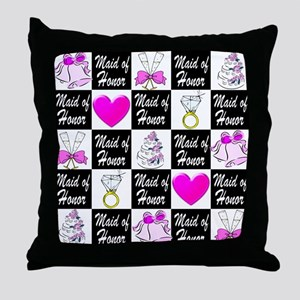 CHIC MAID OF HONOR Throw Pillow