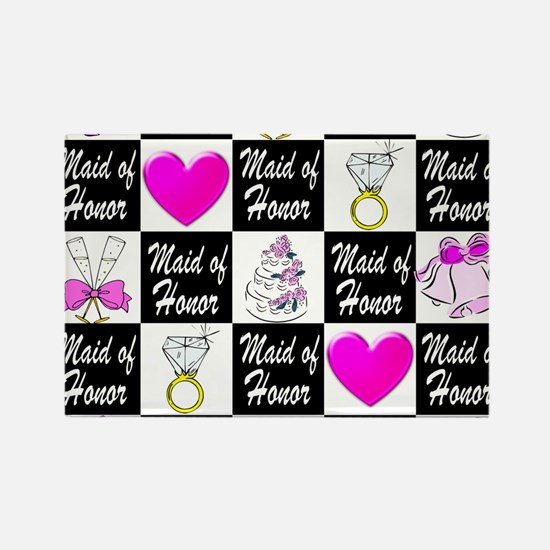 CHIC MAID OF HONOR Rectangle Magnet