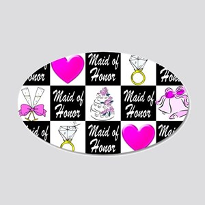 CHIC MAID OF HONOR 20x12 Oval Wall Decal