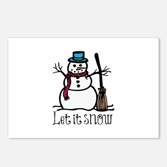 Snow Man Postcards (Package of 8)